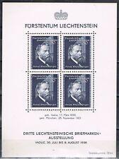 Liechtenstein 1938 blok 3 componist Rheinberger Postfris MNH  Cat waarde € 100