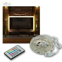 """RGB TV Hintergrundbeleuchtung LED SET für 42-65"""" 107-165cm Fernseher Ambient"""
