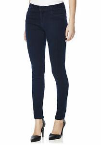 New Ladies Indigo Wash Luxe Sateen Super Skinny Jeans Size 6 Regular leg