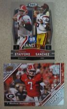 MATTHEW STAFFORD TWO ROOKIE CARD LOT 2009 UD DRAFT EDITION/HIT MARK SANCHEZ