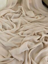"3 mtr nude chiffon dress fabric..45"" wide (114cm)"