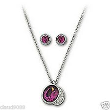 SWAROVSKI SILVER CRYSTAL JEWELLERY GLORIA AMETHYST SET 993482 MINT
