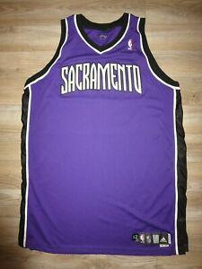 Sacramento Kings 2008 NBA Adidas Game Worn Used Basketball Jersey 52
