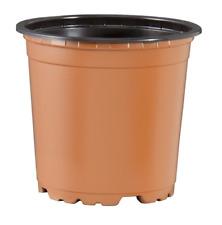 150mm Plastic Garden Round Pots x 60pcs Teku VCH Black - Made in Germany