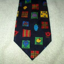 Tie Novelty Cartoon Mr Men Characters Square Pattern
