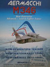 6/2003 PUB AVION AERMACCHI M-346 JET TRAINER AERONAUTICA MILITARE ORIGINAL AD