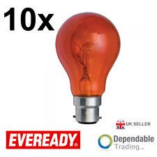 5 x Ampoules Eveready 40w BC B22 Rouge GLS Ampoule / ERFIR40BC S854