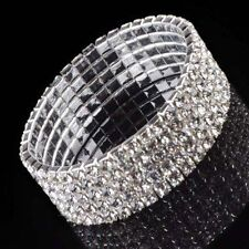 Crystal Silver Plated Costume Bangles