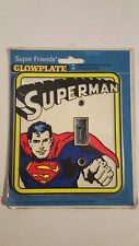 NOS SUPERMAN LIGHT SWITCH PLATE CARDED DC COMICS INC 1976 GLOWPLATE IN THE DARK