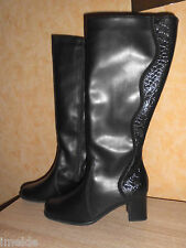 Edle Stiefel NEU in der Gr. 4,5 37 - 37,5 G ganz in schwarzem Nappaleder & Lack