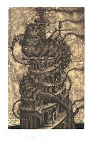 Ex Libris Bookplate Exlibris Etching Roman Sustov - Belarus