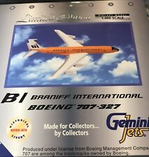 Gemini Jets 1/400 Braniff International ORANGE Boeing 707 N7102