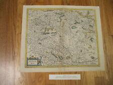 Original 1607 Mercator Hondius Atlas Map of Hungary