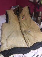 VINTAGE AMERICAN Carhartt vest body warmer sleeveless jacket STARS & STRIPE FLAG