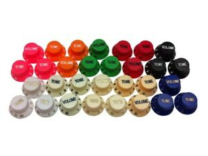 Stratocaster / Strat potentiometer control knob sets or individuals - 3 colours