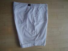 Gloria Vanderbilt Women's Brynn Rollcuff White Bermuda Shorts Size: 24W $46