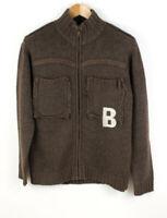 BERTONI Herren Wolle Pullover Cardigan Größe M AFZ32