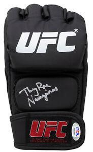 Thug Rose Namajunas Signed Black UFC Glove PSA/DNA