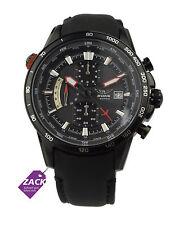 AVIATOR Herren Uhr Armbanduhr Pilotenuhr Chronograph AVW2020G275 schwarzLeder