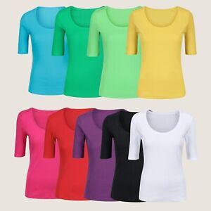 Pure Cotton Half Sleeve T-Shirt Top, 100% Cotton, Choose Colour