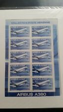 feuillet 10 timbres pa 69A (21/04/2006) AIRBUS A380 sous blister