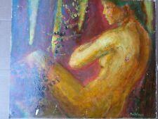 Bernard PELTRIAUX (1921-1999)-Tableau-femme-nu-Peinture Acrylique-painting