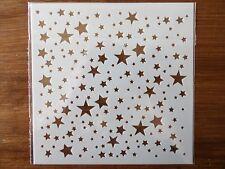 PLASTIC STARS STENCIL 130mm x 130mm