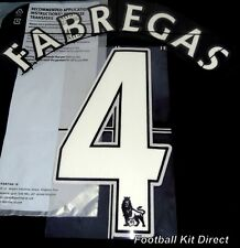 Arsenal fabregas 4 Name/Number Set Football Shirt Lextra 07-13 Sporting ID Home