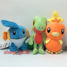 3X Pokemon Plush Mudkip Treecko Torchic Soft Toy Stuffed Animal Teddy Figure 8""