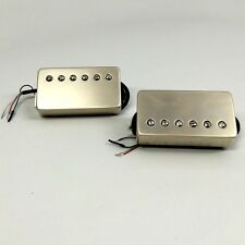 Bare Knuckle Cold Sweat Ceramic Humbucker Pickup Calibrated Set Raw Nickel Cover