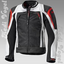 Held Leder/Textil mix Sportjacke Hashiro  / Takano schwarz/rot Gr. 54  UVP 379 €