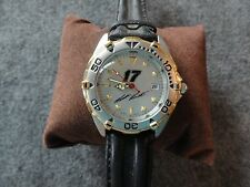 New - NASCAR Men's Quartz Watch with a Leather Band