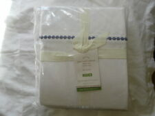 NEW AUTH POTTERY BARN PEARL EMBROIDERED  FULL SHEET SET 400 THREAD COUNT