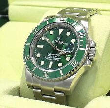 Rolex Submariner GREEN HULK 116610LV Stainless Steel Ceramic Bezel B/PAPER *MINT