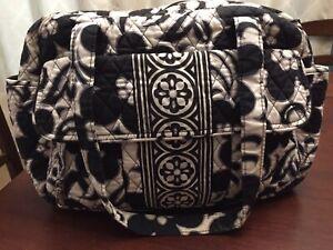 Vera Bradley Diaper Bag Medium Night and Day Black and White