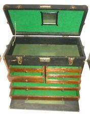 Vintage Gerstner 7 Drawer Wood Machinist Toolbox Machinest Tool Chest