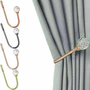 Crystal Metal Curtain Holdback Wall Tie Backs Hook Hanger Holder Home Decor UK