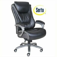 Serta Big And Tall Executive Office Chair In Bliss Black