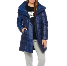 Nike NSW 550 Down Fill Hooded Parka Jacket 815725-423 Blue Size XS New
