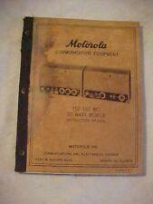 Vintage 1955 ? MOTOROLA COMMUNICATION EQUIPMENT 152-162MC Instruction Manual
