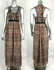 BCBGeneration Maxi Dress 0 Multicolor Floral Back Cut out Sleeveless Lined BCBG
