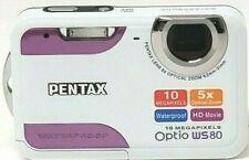 Pentax Optio WS80 Waterproof Camera 10MP HD Movie / White + Purple NEW IN BOX