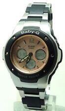 Relojes de pulsera Baby-G de acero inoxidable de alarma