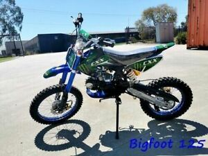 BIGFOOT 125CC PIT MOTOR DIRT BIKE TRAIL MOTOCROSS TERRAIN PRO KICK START BLUE