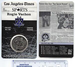 LA Kings Hockey Coin 1998/99 Rogie Vachon SGA
