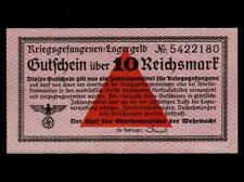 Germany:RO-521a,10 Reichsmark,1939 * WWII * Prisoners of War Camps * EF-AU *