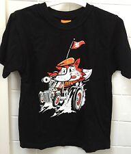 Boys Size 6 Designer Mister Mista Black Fox Racing Car Tee Top New NWOT Casual