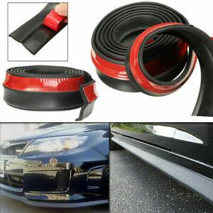 Car Front Side Bumper Lip Splitter Rubber Protector Spoiler Valance Chin Black
