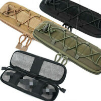 Tactical Outdoor MOLLE Nylon Elastic Knife Flashlight Pouch Bag Case Storage S/L