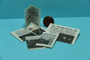 Dollhouse Miniature Newspapers with Real Print on All Sides IM65334